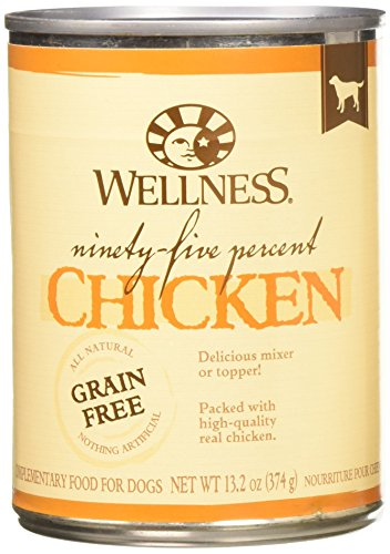 Wellness 95% Chicken Natural Wet Grain Free Canned Dog Food,