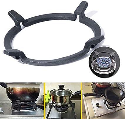 1 soporte de wok negro de hierro fundido para hornillos ...