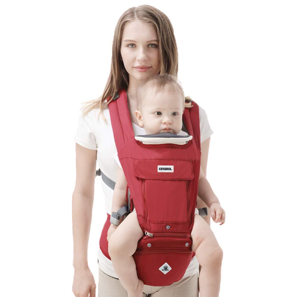 Rufun Porte-Bébé Baby Carrier Ergonomique Siège de la Hanche Boîte de Rangement pour Nouveau-Né Avant et Arrière Allaitement Mains Libres 0-48 mois jusqu'à 25kg