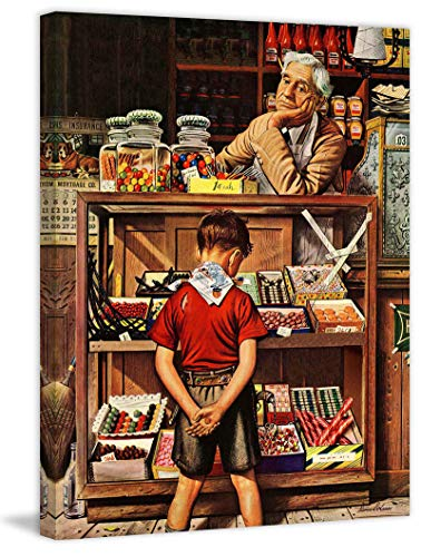 (Marmont Hill 39x30 Penny Candy by Stevan Dohanos Painting Print on Wrapped Canvas, 39