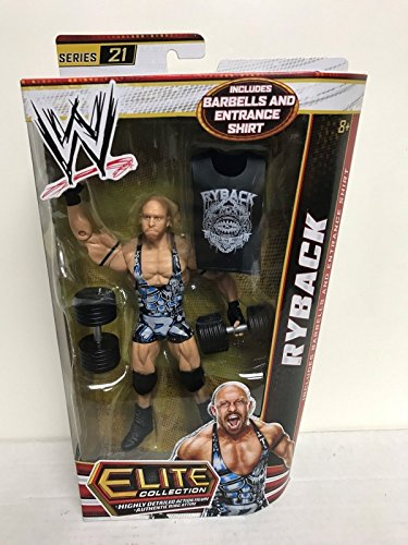 RYBACK 2012 Mattlel WWE Elite Collection Series 21 action figure with Barbells