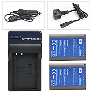 DSTE 2X BLN-1 Battery + DC133 Travel and Car Charger Adapter for Olympus OM-D E-M1 E-M5 Pen E-P5 Pen-F Digital Camera as BCN-1 BLN1