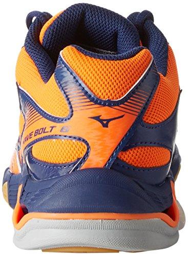 Pallavolo orangeclownfishwhitebluedepths Scarpe 6 Da Mizuno Arancione Uomo Wave Bolt zqSXX1
