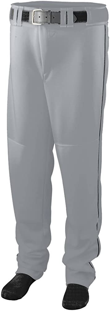 Silver Grey//Black 1445A XL Augusta Sportswear MENS SERIES BASEBALL PANT WITH PIPING