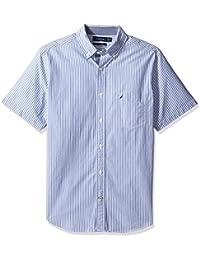 Nautica Men's Short Sleeve Classic Fit Vertical Stripe...