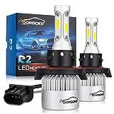 VoRock8 R2 COB H13 9008 8000 Lumens Led Headlight Conversion Kit, High Low Beam Headlamp, Dual Beam Head Light, Halogen Head Light Replacement, 6500K Xenon White, 1 Pair: more info