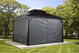 gazebo curtains 12x12 Sojag Polyester Gazebos  Curtains for Messina Hard Top Sun Shelter, 10' x 12', Grey