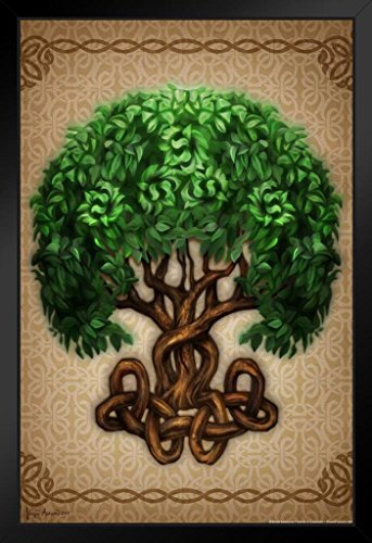 Celtic Tree Of Life by Brigid Ashwood Art Print Framed Poster 12x18 by ProFrames inch