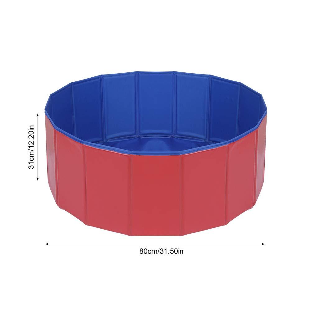 EBTOOLS Piscina para Perros Plegable portátil bañera Ducha Cuenca para Perros Gatos Plegable Piscina de Animales pataugeoire PVC Exterior o Interior (2 ...