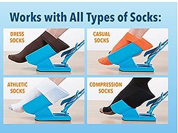 Pone calcetines calzador expres de calcetines con mango alargador para embarazadas lumbalgias ancianos fracturas vertebras problemas de movilidad NOVEDAD ...
