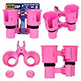 ROBOCUP, HOT Pink, 12 Colors, Best Cup Holder for Drinks, Fishing Rod/Pole, Boat, Beach Chair/Golf Cart/Wheelchair/Walker/Drum Sticks/Microphone Stand