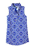 mud pie ruffles - Mud Pie Whitney Sleeveless Tank Blue China Garden (S)