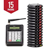 Pagertec Digital Coaster 2.0 Paging System, Coaster Style System,Red LED Lights (Set of 15)