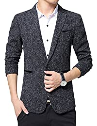 "<span class=""a-offscreen"">[Sponsored]</span>Men's Slim Fit Suits Casual One Button Solid Blazer Jacket"