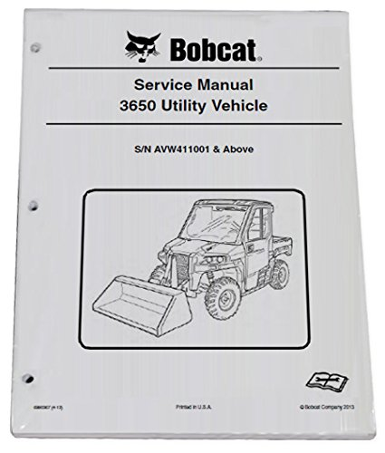 Bobcat 3650 Utility Vehicle Repair Workshop Service Manual - Part Number # 6990367