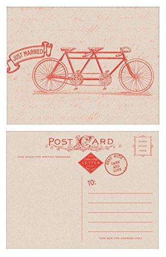 Just Married Tandem Bike Postcards - 10 pack