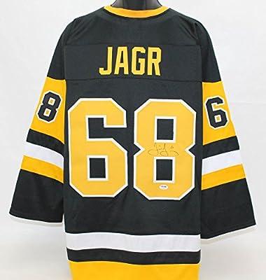 Jaromir Jagr Autographed Pittsburgh Penguins Jersey PSA/DNA COA