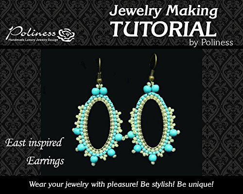 DIY East inspired hoop earrings ,Jewellery making pattern practical Step by step Guide on How to make Handmade Jewellery with brick stitch