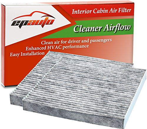 2 Pack – EPAuto CP134 (CF10134) Premium Cabin Air Filter includes Activated Carbon