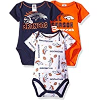 "NFL Denver Broncos ""All Season"" Variety Bodysuit (3 Pack), 18 Months, Blue"