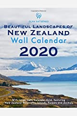 2020 Beautiful Landscapes of New Zealand Wall Calendar: With Large Cells Calendar Grid, featuring New Zealand Mountains, Islands, Forests and Animals (Photo Calendars Series) Paperback