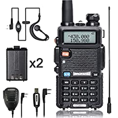 Easy to programSupport Keyboard program and PC program(including programming cable) Dual band ham radio and 4w cover almost all commonly used frequency and range Unlike other dual band 2 way radio, the frequency of this baofeng uv5r radio is ...