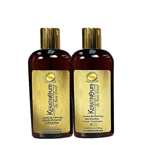 Brazilian Keratin Cure Gold Honey Bio 0% Protein Hair Treatm