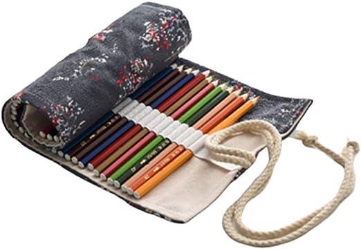 qishengshengwukeji Estuche Colores Estuche lapices Lápiz Caso Bolsa de lápiz Lápiz Casos Chicas Estuche para lápices Enrollable 36: Amazon.es: Hogar