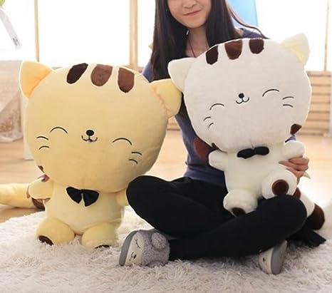 Cherubs Cute Cat Plush Soft Toy (Yellow; XL; 65 cm)