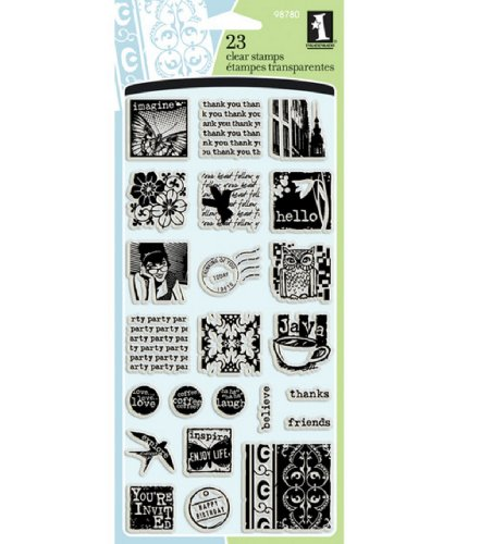 Inkadinkado Inchies Clear Stamps Thoughts