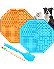 Lick Mat for Dogs,2 Pack Dog Lick Mat with 69 Strong Suction,Fun Alternative Slow Feed Dog Bowls Dog Lick Pad Boredom & Anxiety Reduce,Calming Mat for Pet Bathing,Grooming and Trimming