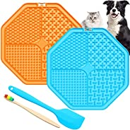Lick Mat for Dogs,2 Pack Dog Lick Mat with 69 Strong Suction,Fun Alternative Slow Feed Dog Bowls Dog Lick Pad