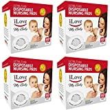 iLove Nursing Pads   4 Packs of 60 (240 Count)   Ultra Thin Disposable Breast Pads for Breastfeeding Mothers