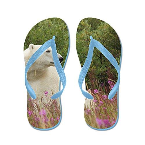 Truly Teague Hombres Oso Polar En Canadian Tundra Chanclas De Goma Sandalias Caribbean Blue