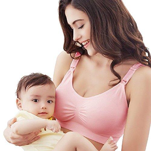 4f160fee30db1 Amazon.com : Nursing Breastfeeding Maternity Bra Prevent Sagging for Pregnant  Women Plus Size Breast Feeding Bra Pregnant Underwear (XXL, pink) : Baby