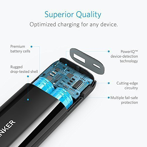 Anker Astro E1 5200mAh Candy bar-Sized Ultra Compact Portable Charger (External Battery Power Bank) with High-Speed Charging PowerIQ Technology (Black) by Anker (Image #4)