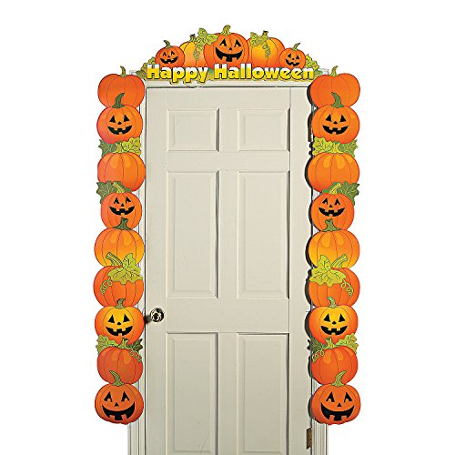 Cardboard Halloween Pumpkin Door Border by Fun Express