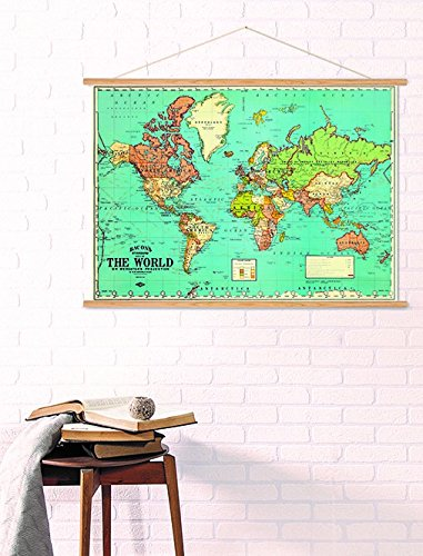 Vintage world the best amazon price in savemoney cavallin world map 1930s vintage design new poster wrap publicscrutiny Gallery
