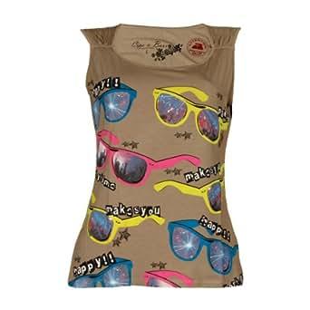 Cipo & Baxx - Camiseta sin mangas - para mujer beige caqui