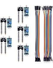 Kuman 5PCS Suolo igrometro umidità rilevazione modulo del sensore di umidità e 5 PCS di Temperatura umidità sensori per Arduino Raspberry pi 3 PI 2 3 RPI 1 Model B+ B KY71