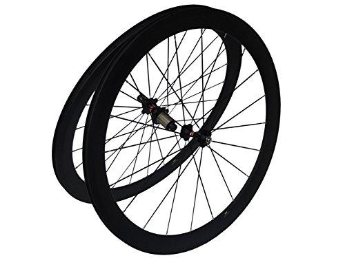 フルカーボンマットロードバイク自転車クリンチャーホイールセット 38mm リム幅:25mm   B00N2RQKN4