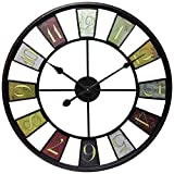 Infinity Instruments 14024-24 Kaleidoscope Wall Clock, 24'