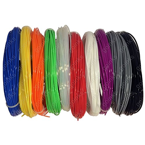 Arc-en-Pack Imprimante 3D Filament – 0.5KG (500g) / ABS / 3.00mm – 10 Couleurs