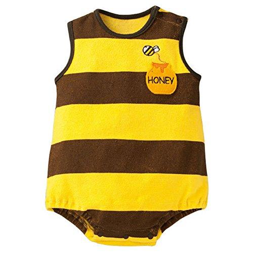 Norbi Cute Newborn Baby Comfy Romper Bodysuit Bee]()