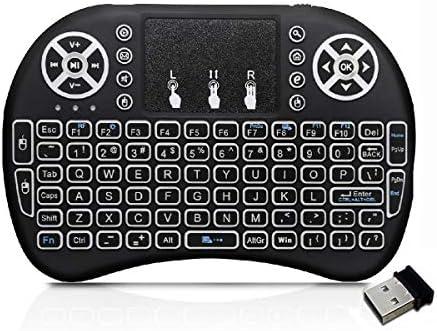 CYY - Mini Teclado inalámbrico de 2,4 GHz con ratón táctil, retroiluminación LED, batería Recargable de Iones de Litio, Control Remoto Multimedia para Android Smart TV Box HTPC IPTV PC Pad Xbox: