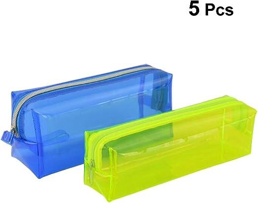 Toyvian Estuche de lápices de plástico Estuche para lápices Bolsa para niños Bolso Bolso Contenedor Bolsa de almacenamiento Organizador: Amazon.es: Hogar