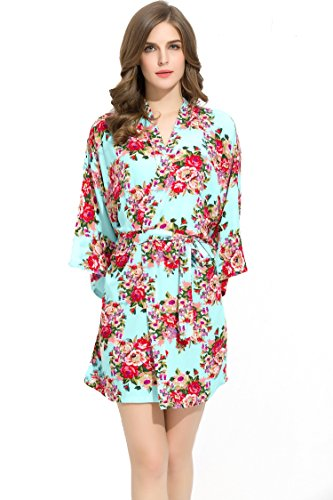 Endless Envy Bridesmaids Robes Floral Wedding Bride by (Mint)