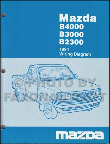 1994 mazda b4000 wiring diagram 1994 image wiring 1994 mazda b4000 b3000 b2300 pickup truck wiring diagram manual on 1994 mazda b4000 wiring diagram