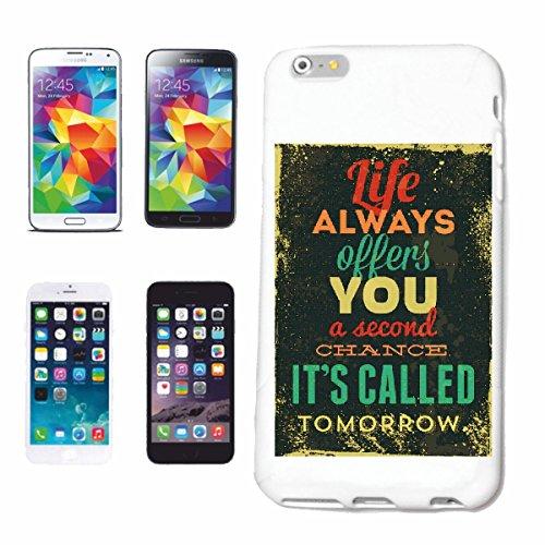 caja del teléfono iPhone 6+ Plus La vida siempre le ofrece una SEGUNDA OPORTUNIDAD IT`S LLAMADA MAÑANA VINTAGE RETRO del ESTILO DE VIDA manera gótico MOTORISTA STREETWEAR PARIS MILAN NEW YORK Caso d