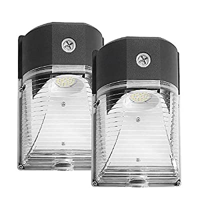 Cinoton LED Wall Pack Light,26W 3000lm 5000K (Dusk-to-Dawn Photocell,Waterproof IP65), 100-277Vac,150-250W MH/HPS Replacement,Outdoor Security Lighting (2pack)